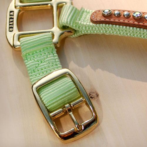 Halfter Swarovski - Detail pastellgrün