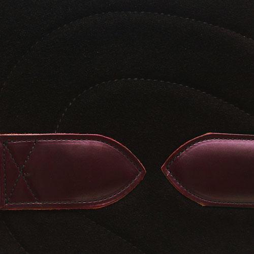 Bareback Pad Leder - schwarz