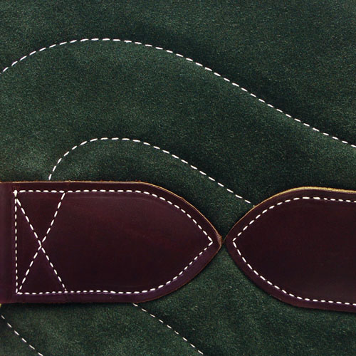 Bareback Pad Leder - grün
