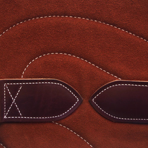 Bareback Pad Leder - rost