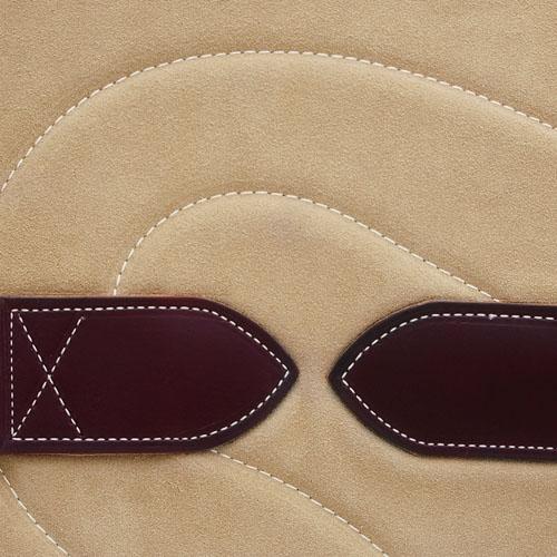 Bareback Pad Leder - beige