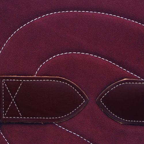 Bareback Pad Leder - weinrot