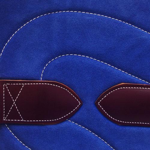 Bareback Pad Leder - royalblau